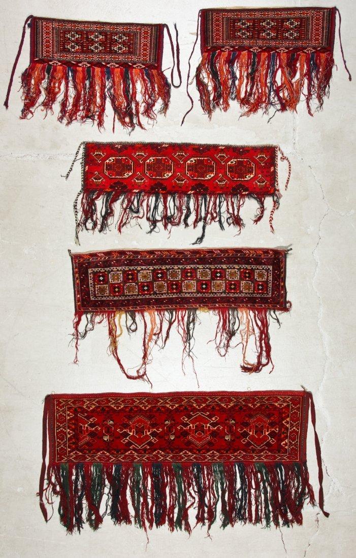 5 Old Turkmen Torba Trappings