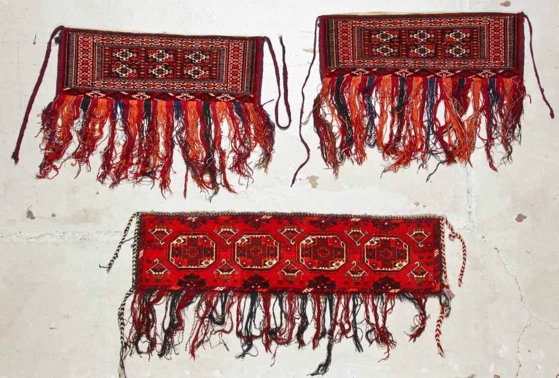 5 Old Turkmen Torba Trappings - 2