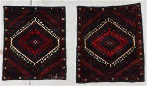 2 Large Old Afghan Beluch Pillow Covers
