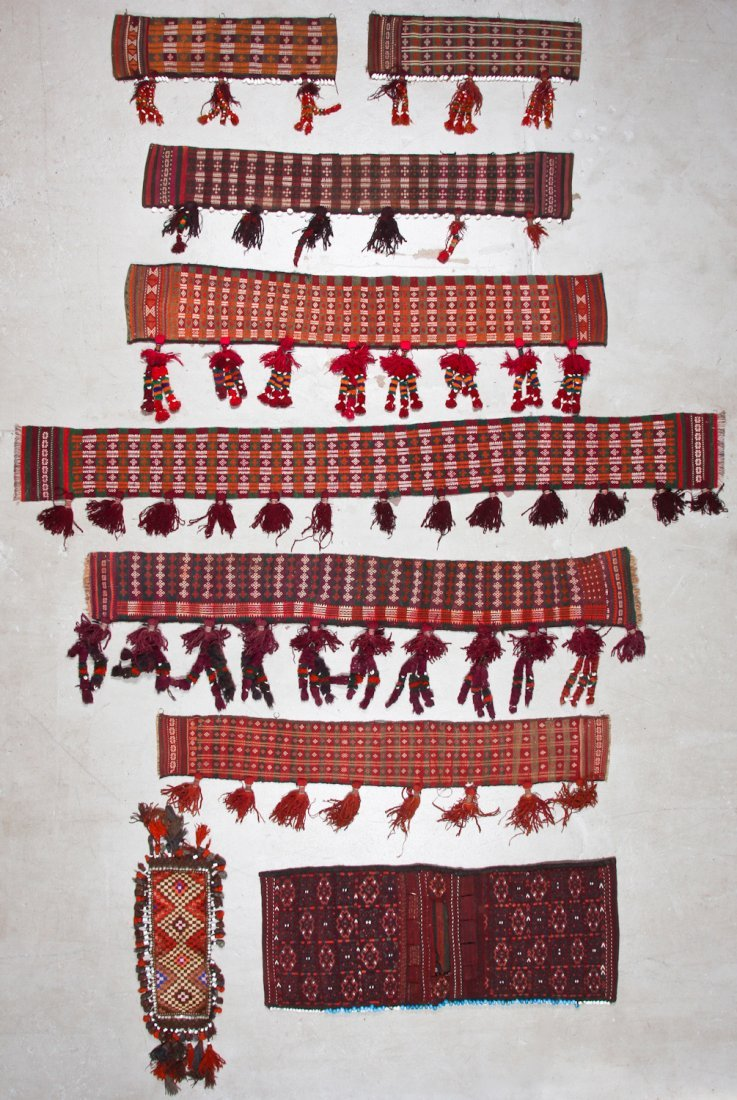 9 Old Central Asian Trappings/Hangings