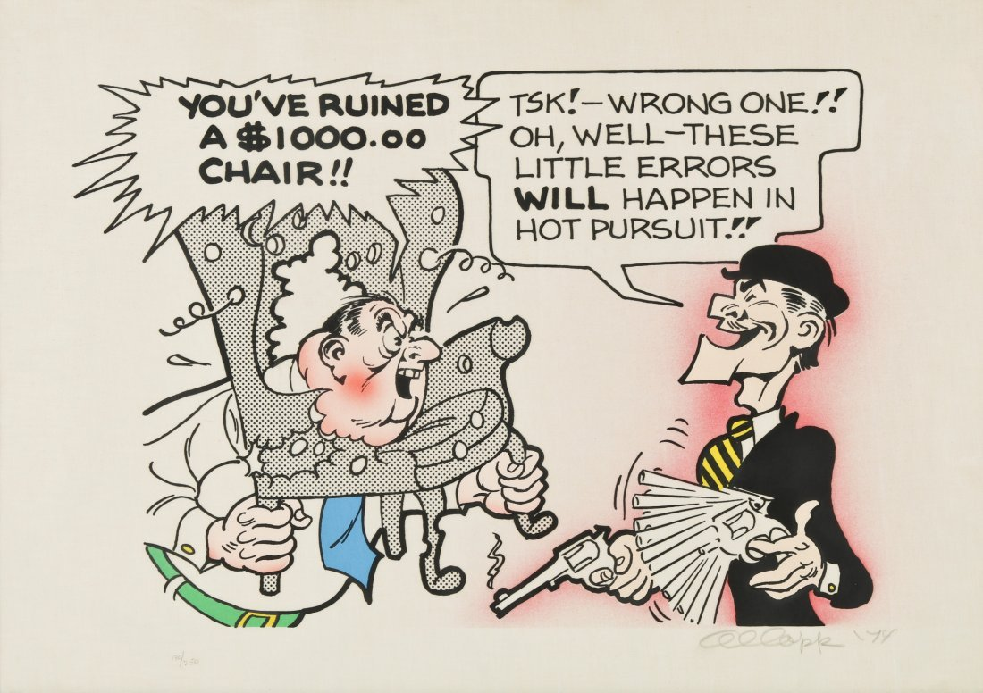 """Al Capp (1909-1979) """"You've Ruined a $1,000 Chair"""""""