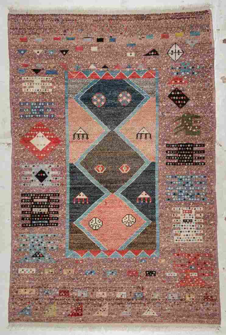 Vintage Turkish Village Rug: 7'8'' x 5', 234 x 152 cm