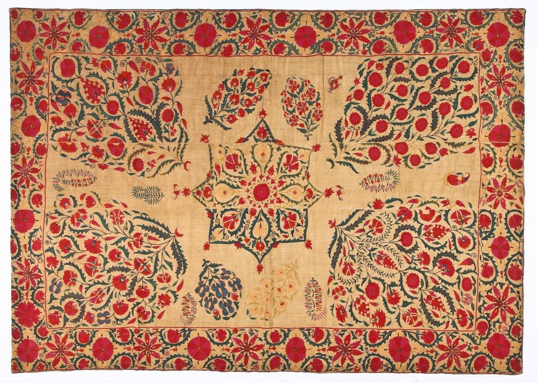 19th C. Central Asian Nurata Suzani