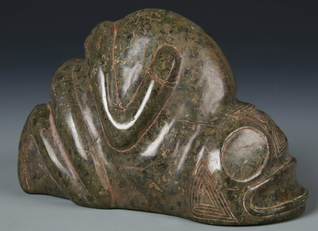 Large Taino Serpentine Frog-Man Form (1000-1500 CE)