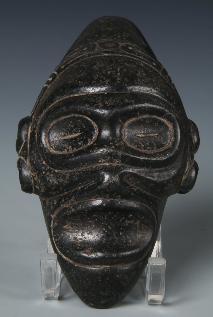 Taino Ancestral Stone Head or Mask (1000-1500 CE)