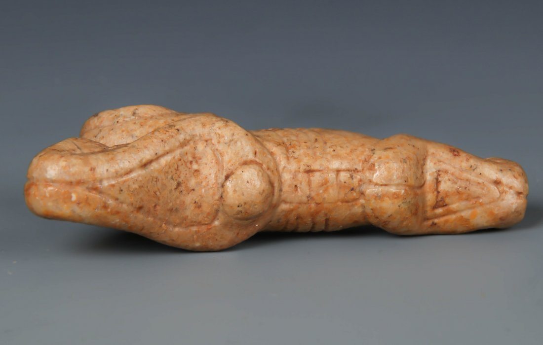 Taino Anthropic Figure w. Contorted Arms (1000-1500 CE) - 3