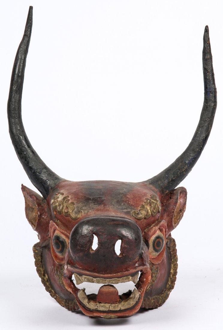Tibetan Yamantaka Red Bull Dance Mask