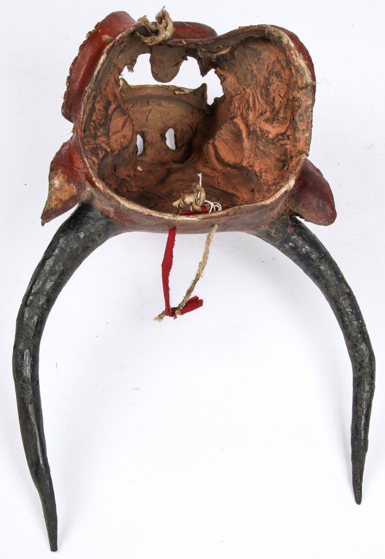 Tibetan Yamantaka Red Bull Dance Mask - 5