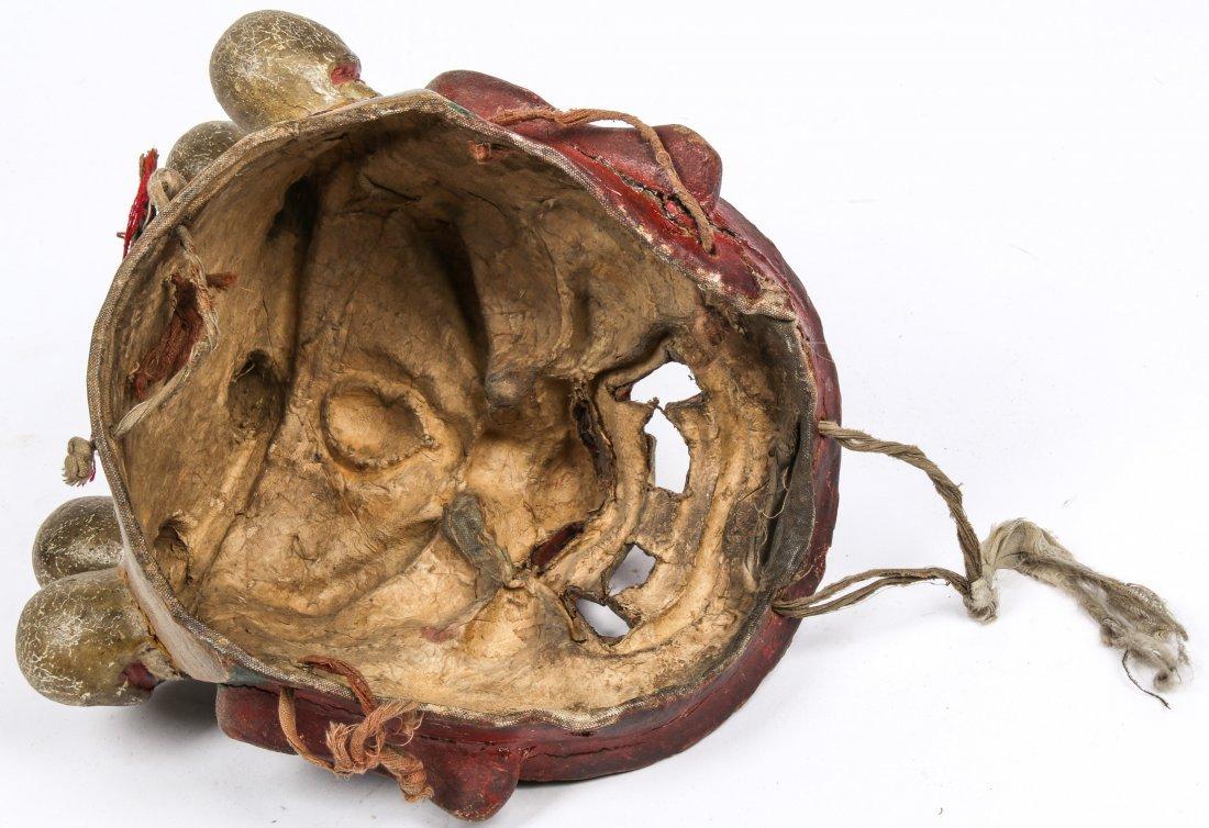Tibetan Dharmapala Red Dance Mask - 6