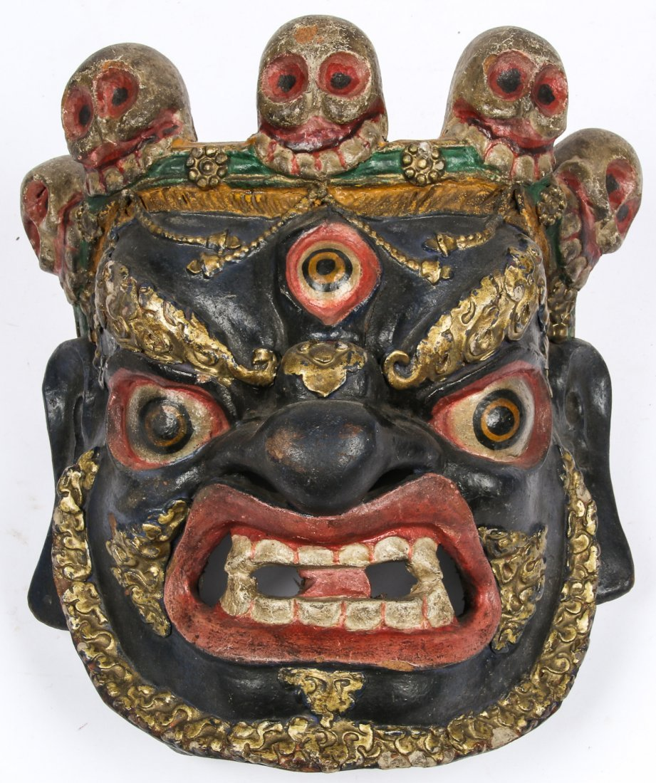 Tibetan Dharmapala Blue Dance Mask