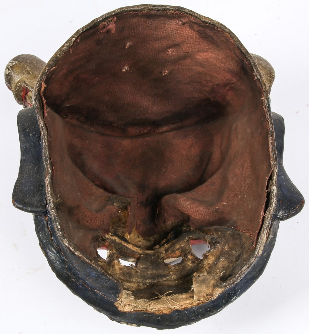Tibetan Dharmapala Blue Dance Mask - 5