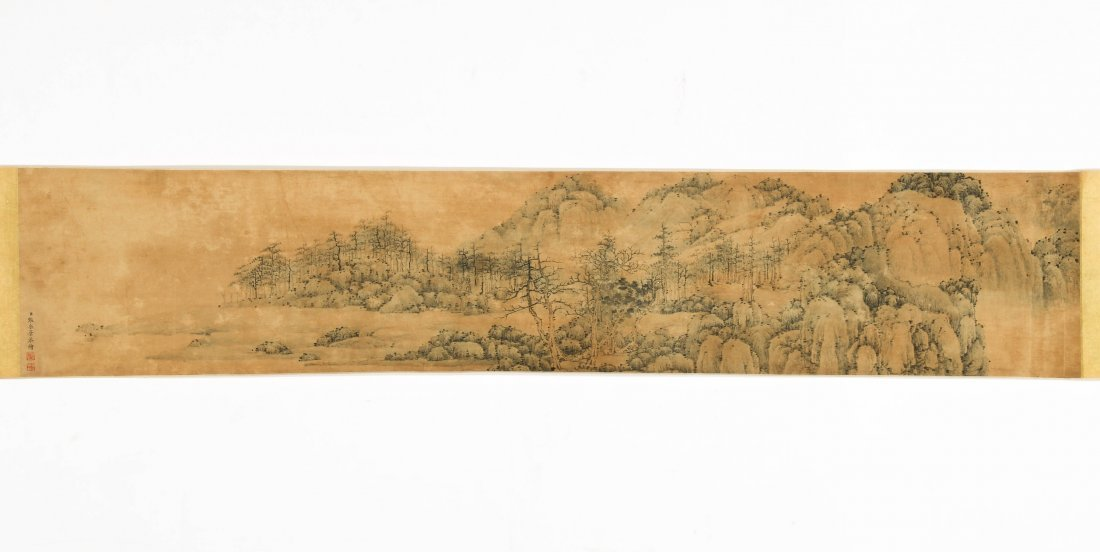 Antique Chinese Scroll Painting, Zhang Zongcang