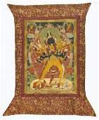 19th C. Tibetan Thangka of Chakrasamvara and