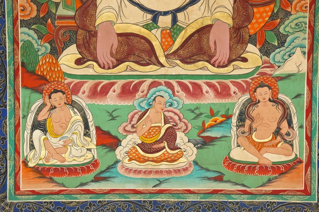 Large Old Tibetan Thangka - 2