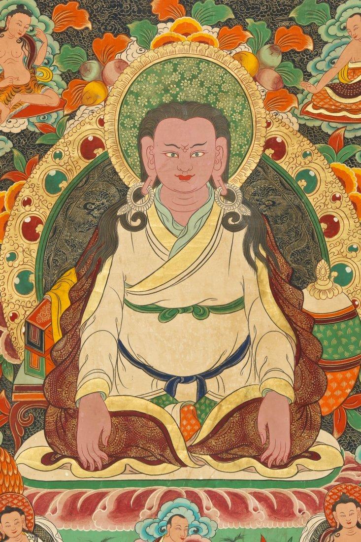 Large Old Tibetan Thangka - 4