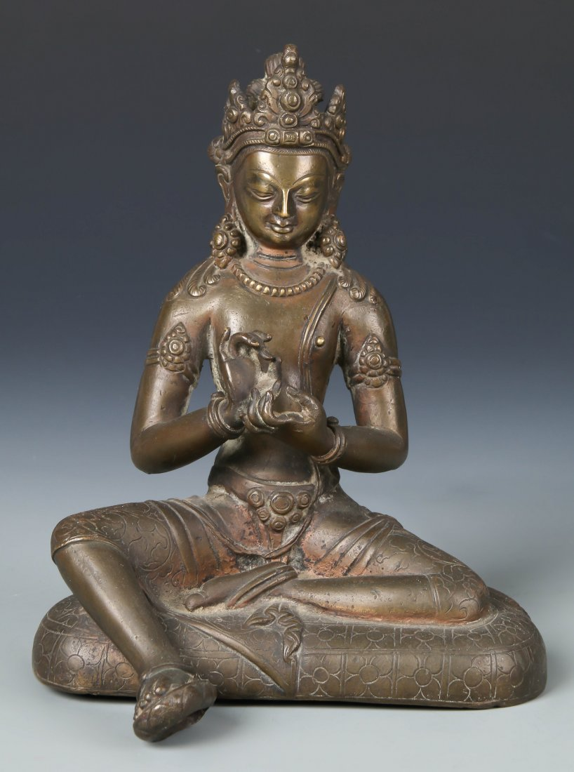 Old Chinese Bronze Seated Buddha