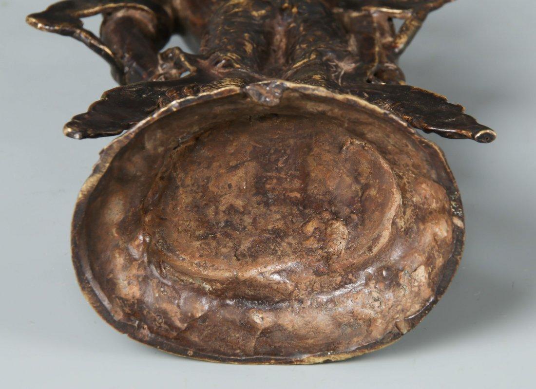 Old Chinese Bronze Standing Buddha - 4