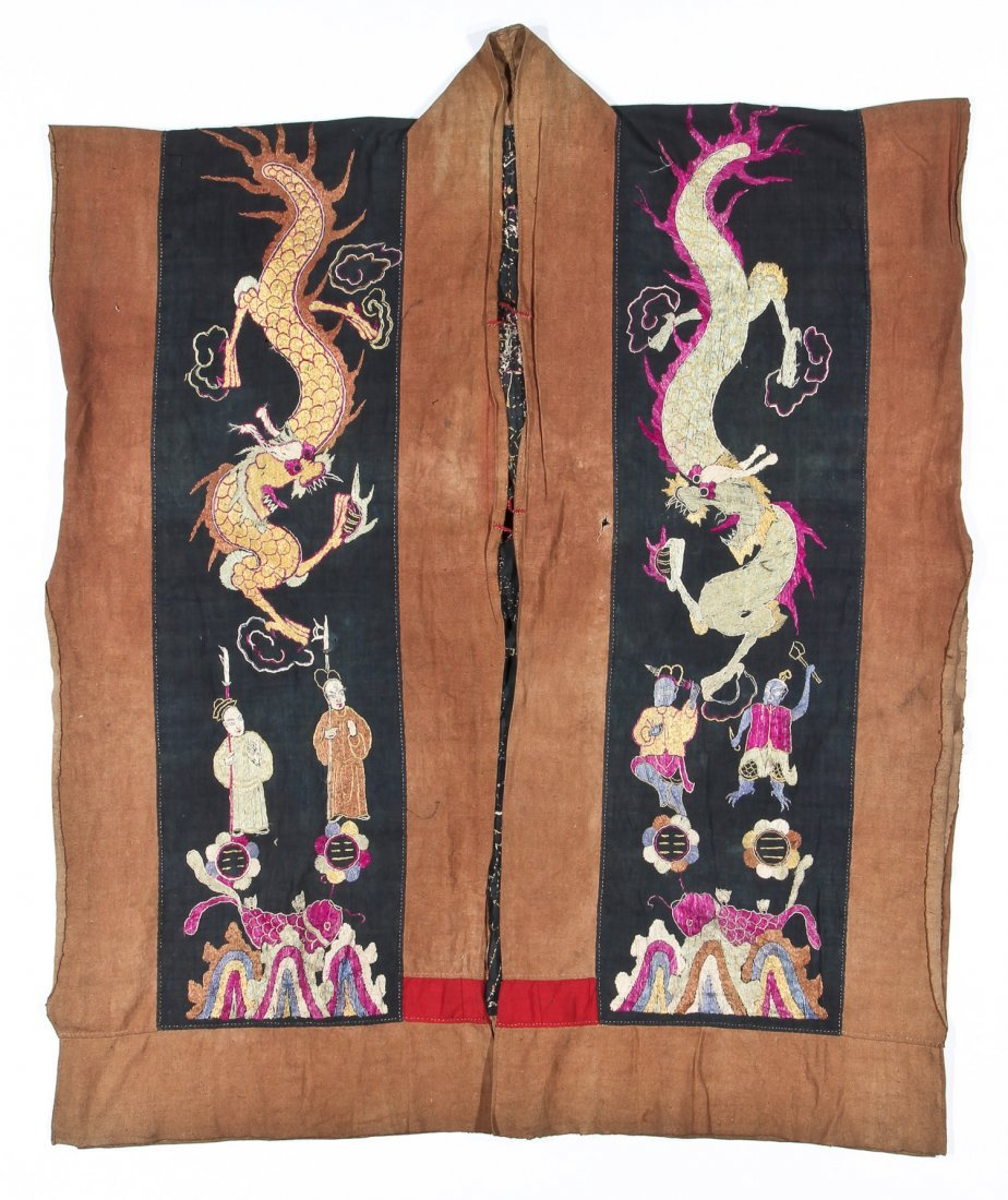 Antique Embroidered Yao Priest Dragon Robe