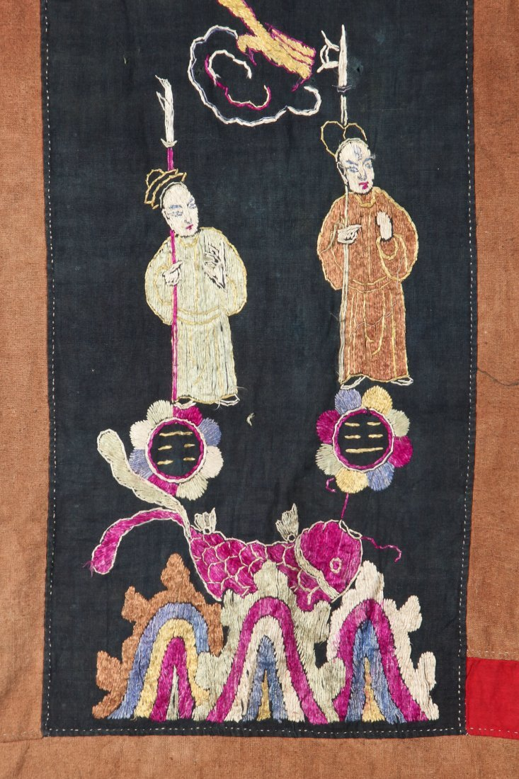 Antique Embroidered Yao Priest Dragon Robe - 2