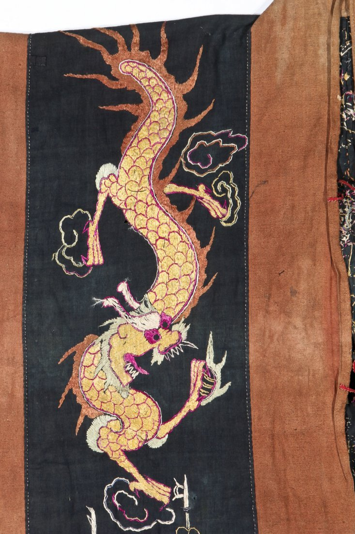 Antique Embroidered Yao Priest Dragon Robe - 3