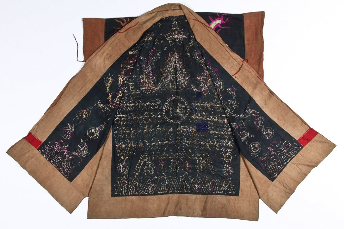 Antique Embroidered Yao Priest Dragon Robe - 4