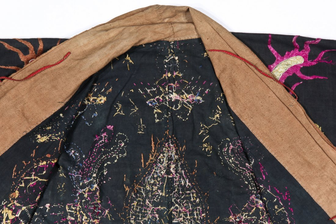 Antique Embroidered Yao Priest Dragon Robe - 5