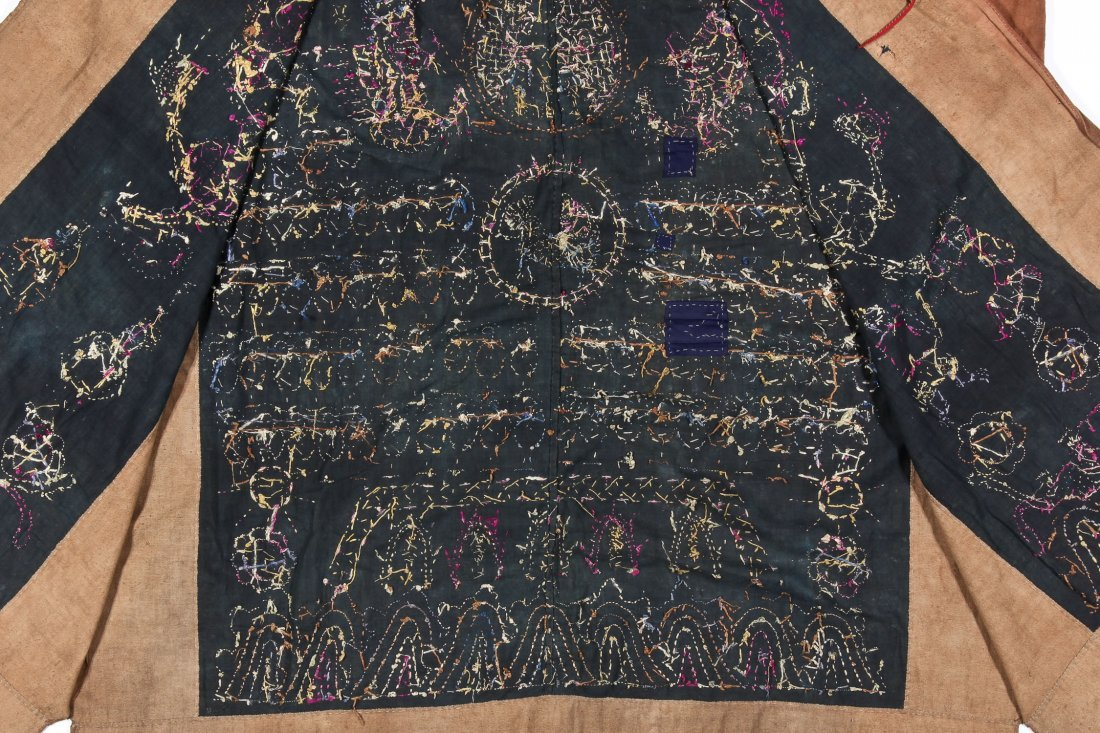 Antique Embroidered Yao Priest Dragon Robe - 6