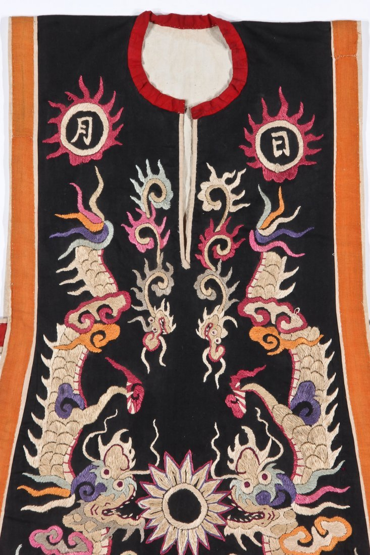 Antique Embroidered Yao Priest's Robe - 3