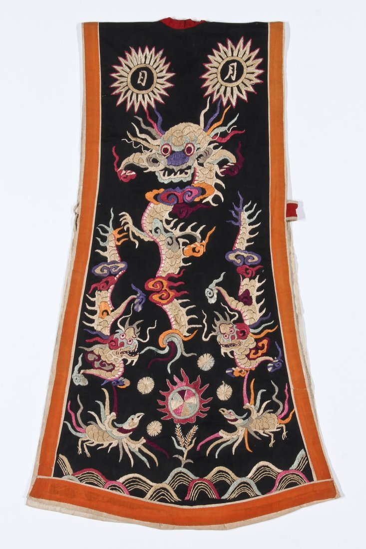 Antique Embroidered Yao Priest's Robe - 6