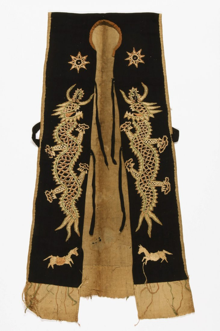 Antique Dao Shaman Embroidered Dragon Robe