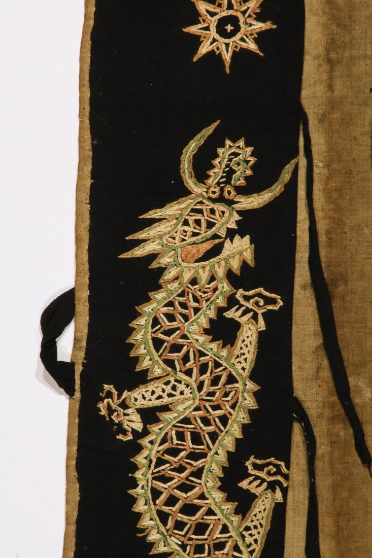 Antique Dao Shaman Embroidered Dragon Robe - 2