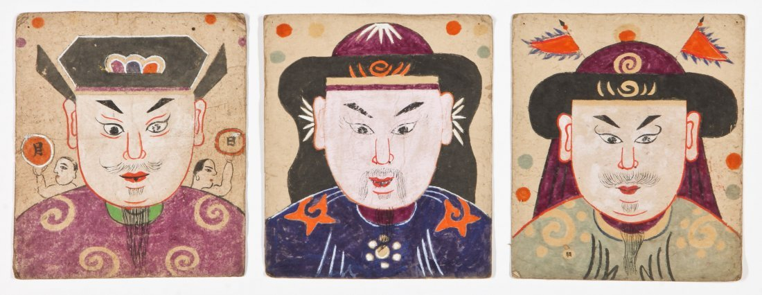 5 Paper Yao Priest Masks, South West China - 3