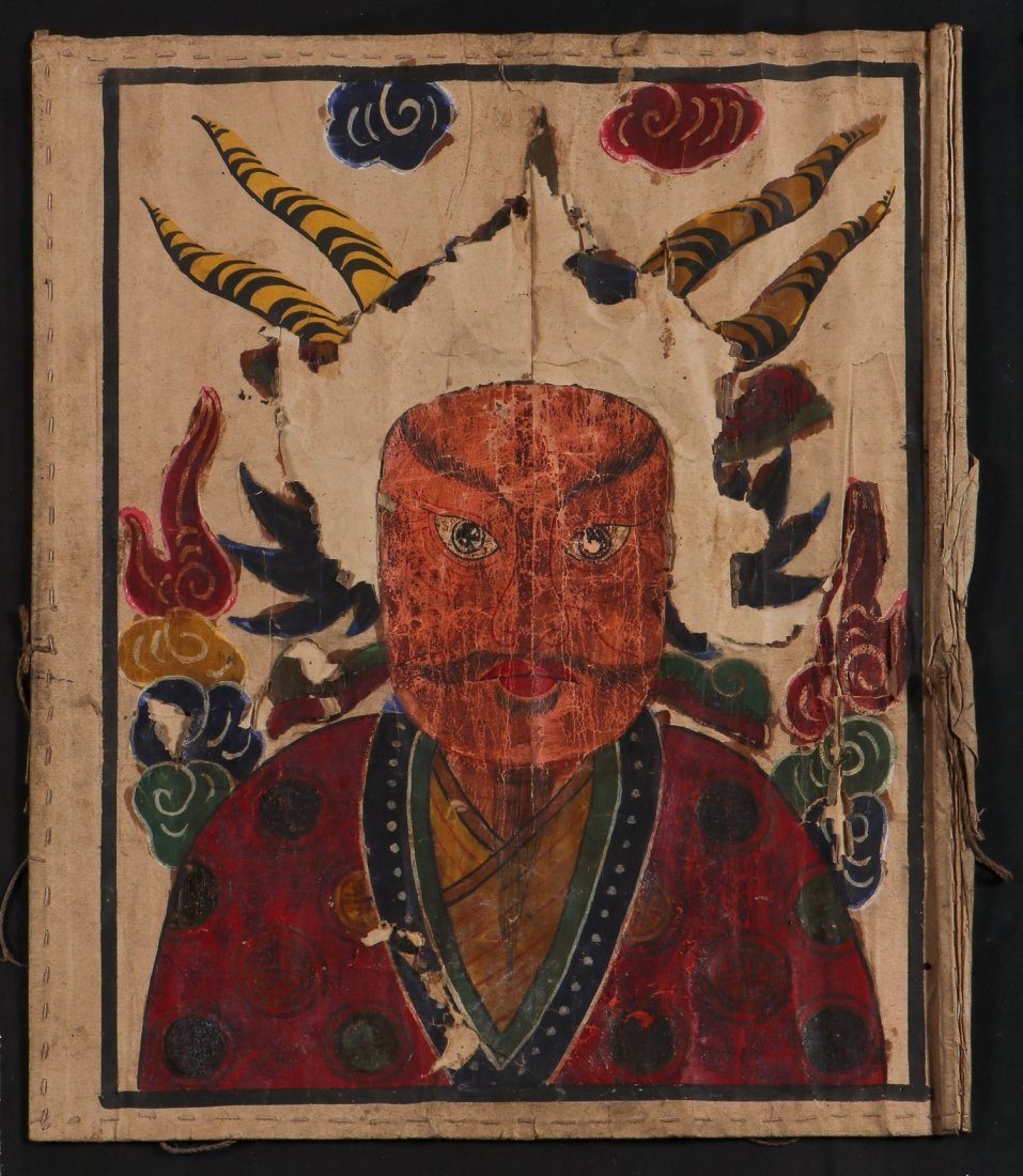 3 Paper Yao Priest Masks, South West China - 5