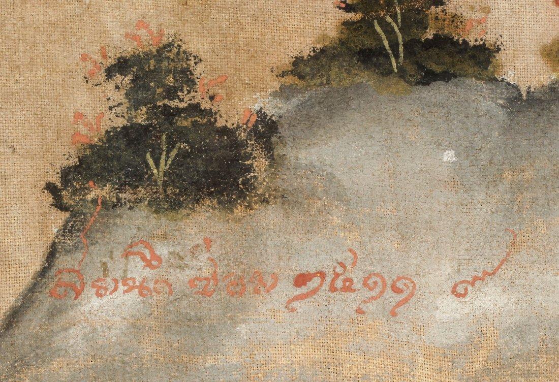 19th C. Thai Painting on Cloth - 5