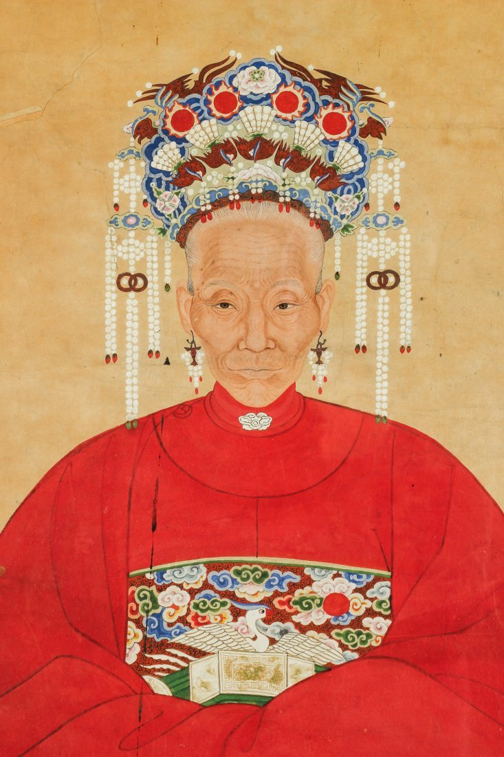 Antique Chinese Ancestor Painting - 3
