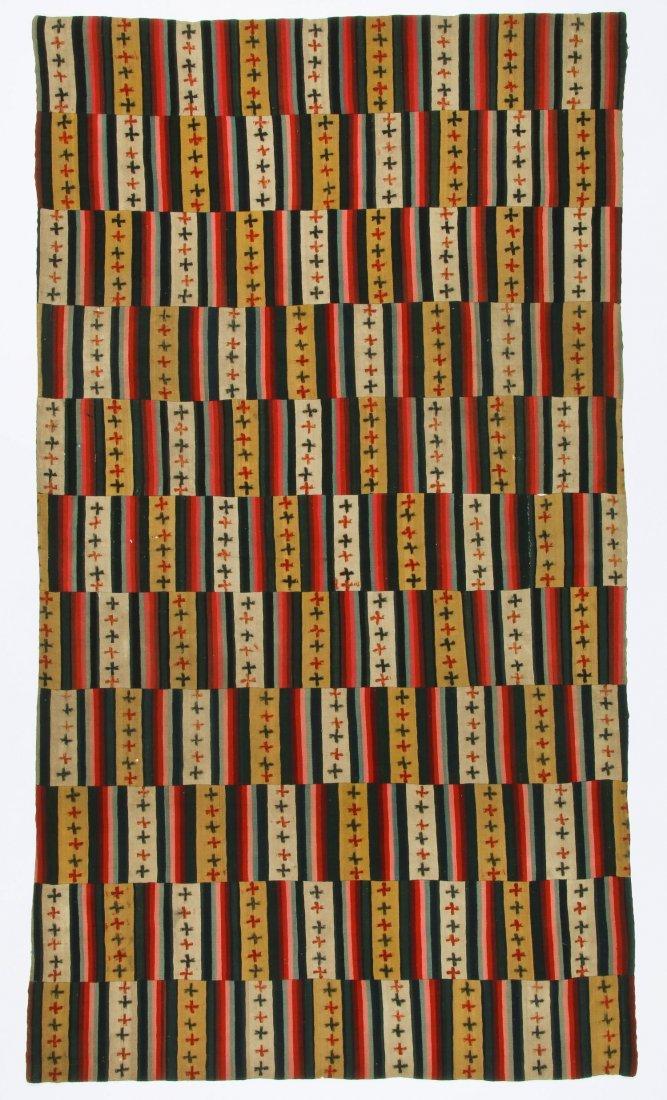 Antique Paneled Blanket, Bhutan
