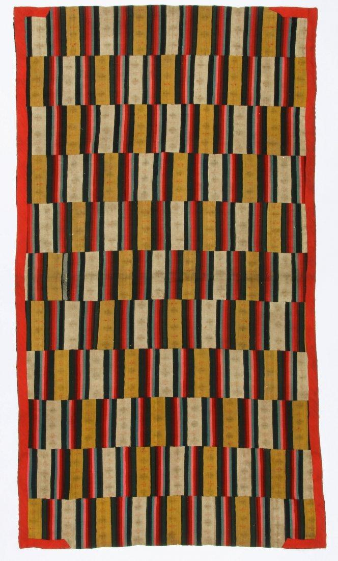 Antique Paneled Blanket, Bhutan - 3