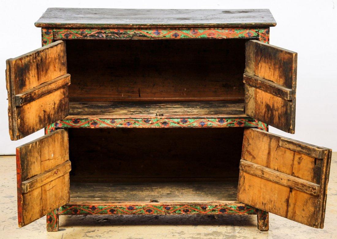 Antique Tibetan Monastery Cabinet - 2