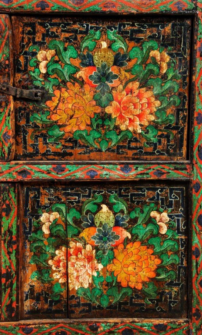 Antique Tibetan Monastery Cabinet - 5