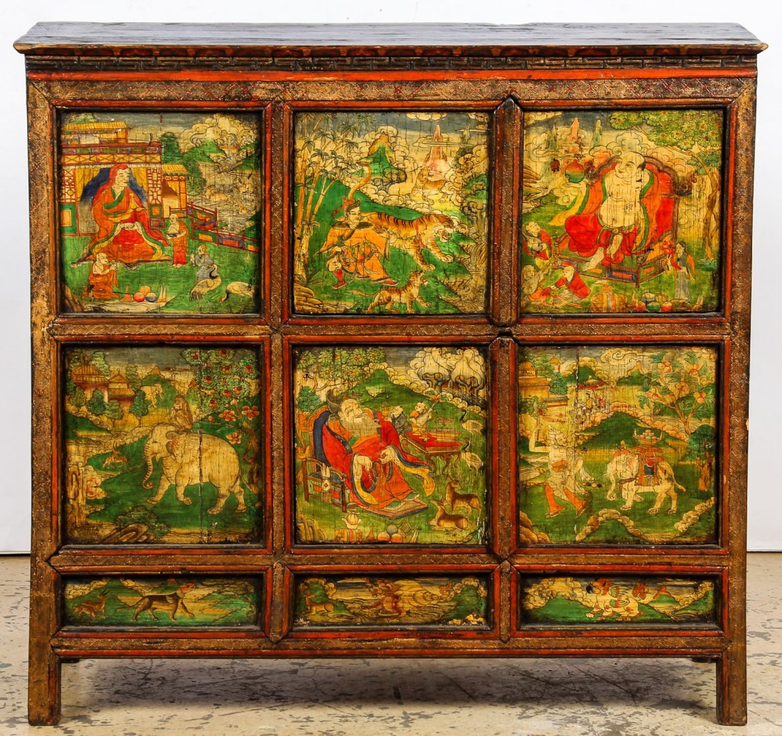Antique Tibetan Monastery Cabinet