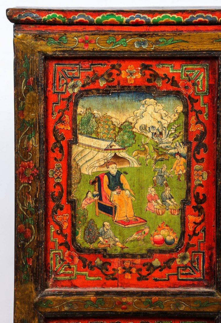 Antique Tibetan Monastery Cabinet - 4