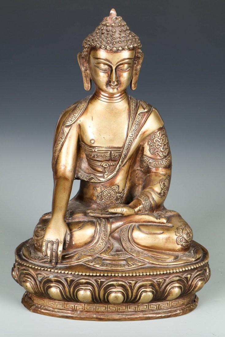 Sino-Tibetan Bronze Seated Buddha