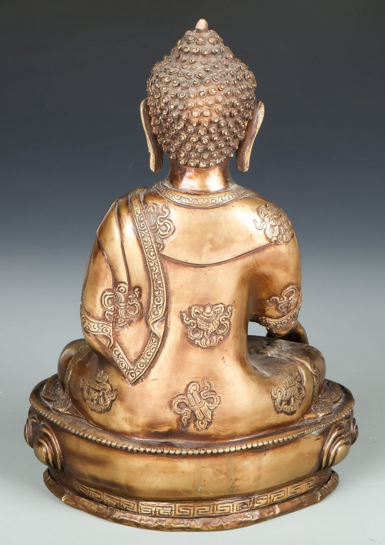 Sino-Tibetan Bronze Seated Buddha - 2