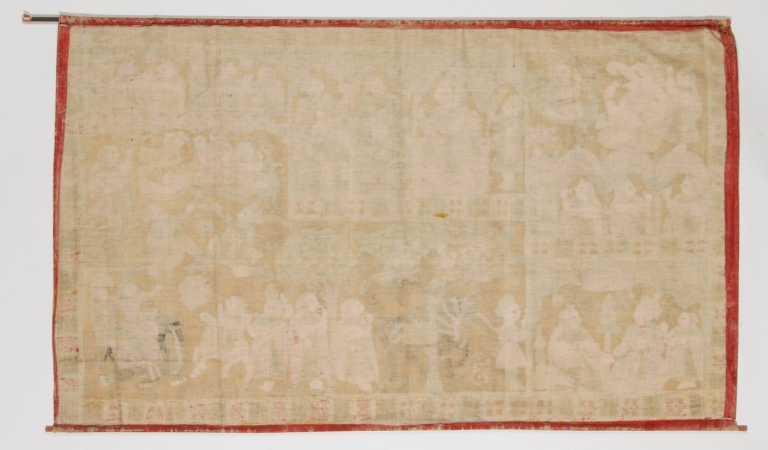 Indian Phad Painting on Canvas, Early 20th C. - 5