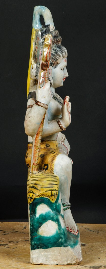 Large Finely Carved Marble Temple Hindu Deity, India - 6