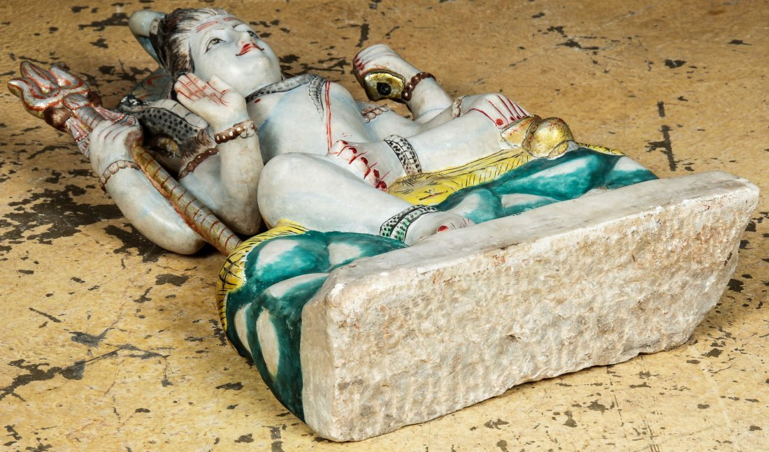 Large Finely Carved Marble Temple Hindu Deity, India - 8