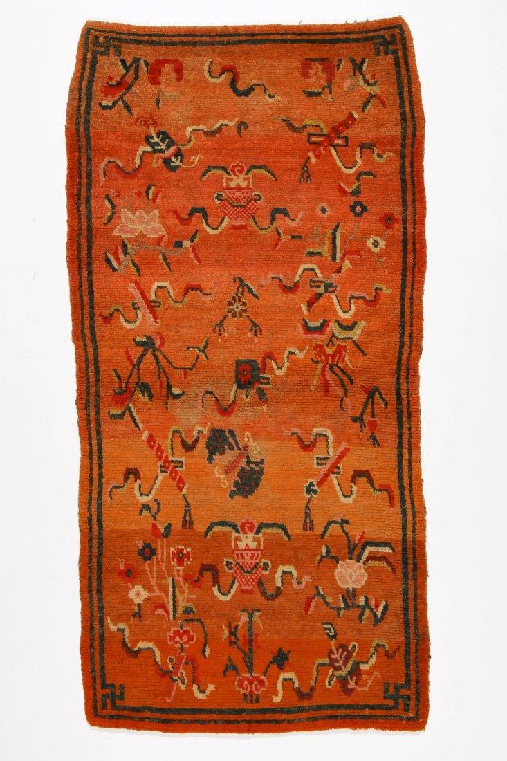 Antique Tibetan Rug: 2'8'' x 5'7'' (81 x 170 cm)