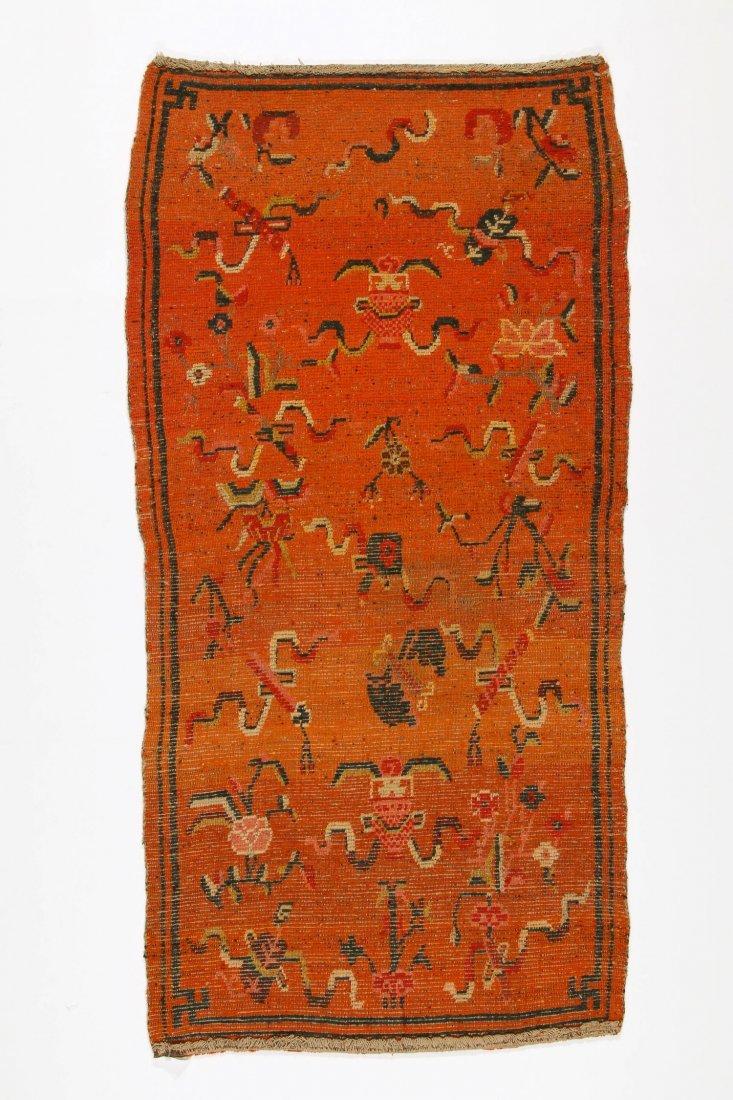 Antique Tibetan Rug: 2'8'' x 5'7'' (81 x 170 cm) - 3