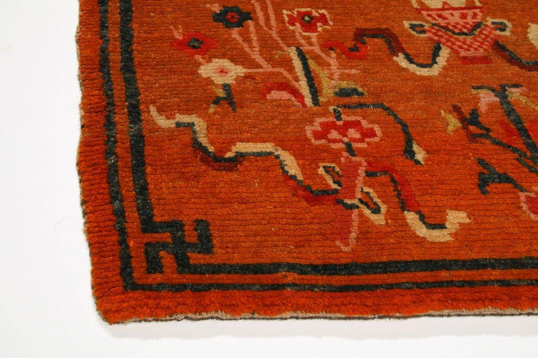 Antique Tibetan Rug: 2'8'' x 5'7'' (81 x 170 cm) - 4