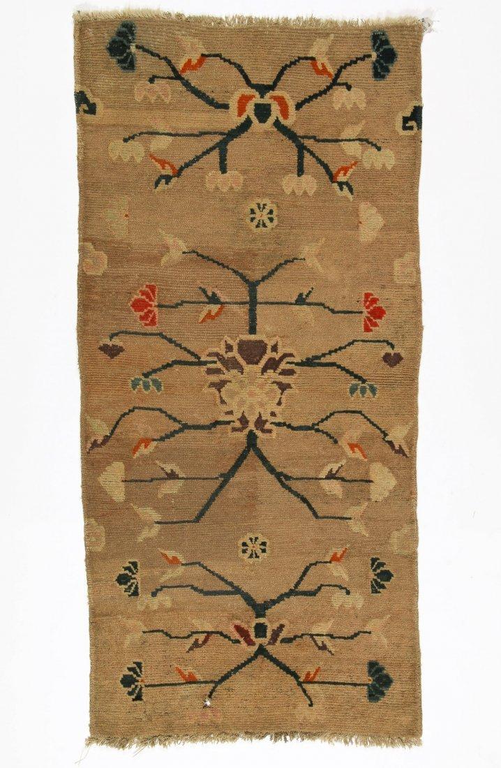 Antique Tibetan Rug: 2'5'' x 5'0'' (74 x 152 cm)